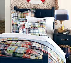 madras quilt pottery barn kids