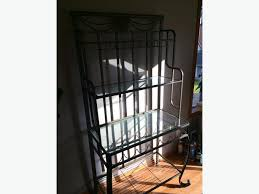 Bakers Rack With Wine Glass Holder Bakers Racks Used Bakers Rack Rack Used Bakers