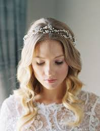 bridal garland weaving flower garland with delicate pearl accents bridal and