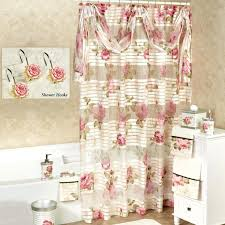 Adirondack Shower Curtain by Curtains White Lace Shower Curtain With Valance Victorian Sheer