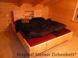Schlafzimmerschrank Zirbe Zirbenbett Steiner Kranzhorn Doppelbett Loses Rueckenteil Kunde Jpg