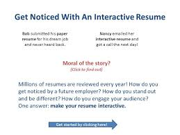 Get Your Resume Reviewed Get Noticed With An Interactive Resume Ppt Download