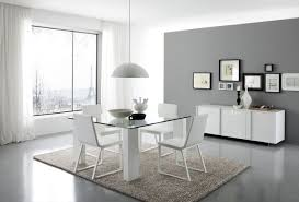 Rectangle Glass Dining Table Set Glass Top Dining Tabl Contemporary Dining Room Sets Gray Carpet On