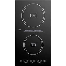 Electromagnetic Cooktop Summit 11 Inch 2 Burner Built In Induction Cooktop Black