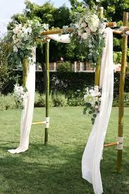 wedding arch garden a summer wedding bluebell florals