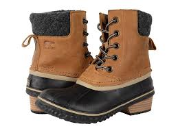 womens sorel boots for sale sorel womens slimpack ii lace boot elk black s clothing