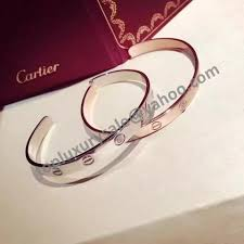 cartier bracelet pink gold images Cartier love cuff bracelet b6032617 white pink gold plated open jpg