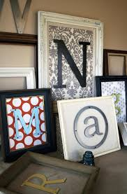 letters fabric vintage frames for the home pinterest