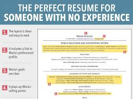 First Resume Example by First Resume Template No Experience Resume Examples 2017