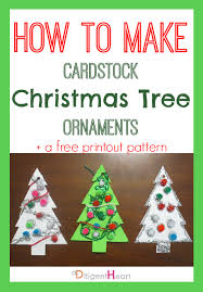 5 days of crafts cardstock tree