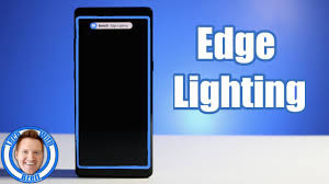 galaxy edge lighting edge lighting notification tutorial for galaxy note 8