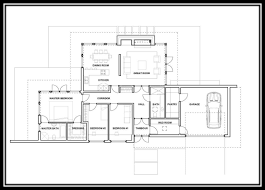 modern 3 bedroom one story house plan home interior design with