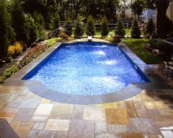 inspirations backyard landscaping with rectangular pool trends