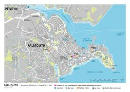 Map Of Cornwall England by Falmouth University Travel Maps