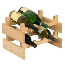 peaceably unfinished reclaimed wood wine rack by