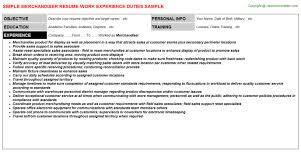 merchandiser resume merchandiser resume sample resume for