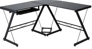 Black Glass Computer Desks For Home Black Glass Desk For Desktop Computer And Laptop Finding Desk In