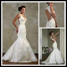 bien savvy ivory v neck sleeveless satin mermaid wedding bridal