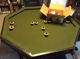converting a bumper pool table into a low cost table top gaming