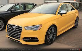 spotted imola yellow audi s3 sedan at audi north scottsdale