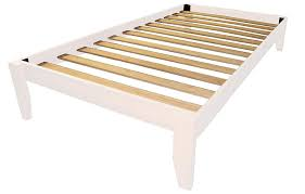White Wood Bed Frame Amazon Com Stockholm Solid Wood Bamboo Platform Bed Frame Twin