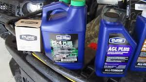 how to perform an oil change on a polaris sportsman atv 2003