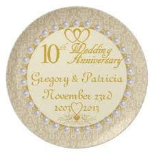 guest signing plate 10th wedding anniversary guest signing plate zazzle