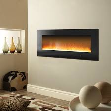 metropolitan 56 in wall mount electronic fireplace with crystal
