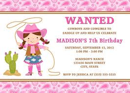 cool cowgirl birthday invitations ideas download this invitation
