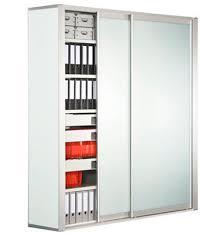 armoire bureau porte coulissante armoire de classement haute basse en bois avec porte