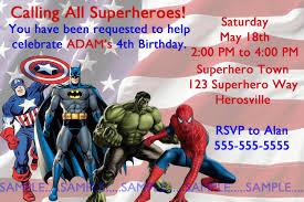 Superhero Invitation Card Superheroes Invitation Justice Leaguebirthday