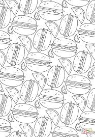 hamburger pattern coloring page free printable coloring pages