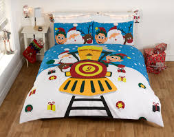christmas novelty duvet cover set santa 100 cotton with