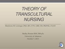 transcultural nursing powerpoint presentation dr madeleine leininger