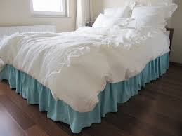shabby chic white rose bedding ruched duvet cover decoration