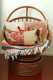 mid century modern swivel rattan wicker egg chair vintage retro