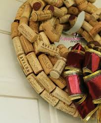 wine cork wreath tutorial moscato