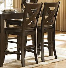 counter dining chairs homelegance crown point 7 piece counter height dining room set