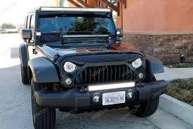 led light bar jeep wrangler install 07 17 jeep wrangler tow hook mounted led light bar 4 steps