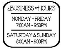 opening hours clipart 8