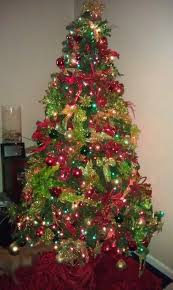 green tree with gold and decorations home design