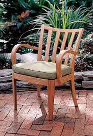 Sutherland Outdoor Furniture Contemporary Garden Chair With Armrests Walnut Whisper By