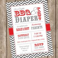 bbq baby shower couples bbq and baby shower invitation barbecue