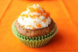 carrot cake cupcakes with coconut cream cheese icing