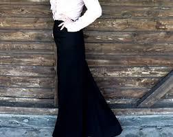 maxi skirt pencil skirt long skirt cotton skirt jersey
