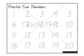 practise your numbers 1 20 printable maths teacher resources