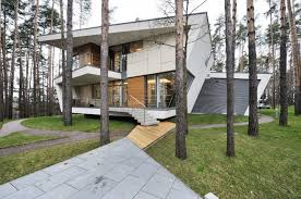 Russian Home Contemporary Russian Home With Sleek Angles