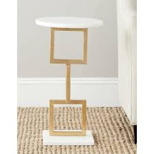 White Accent Table Safavieh Treasures Cassidy Gold White Top Accent Table Free