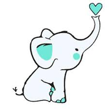 baby elephant with heart tattoo design baby tattoo pinterest
