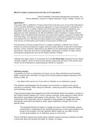 what is impact assessment and why is it pdf available